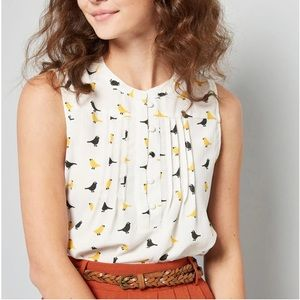 ModCloth Freelance for the Taking Sleeveless top